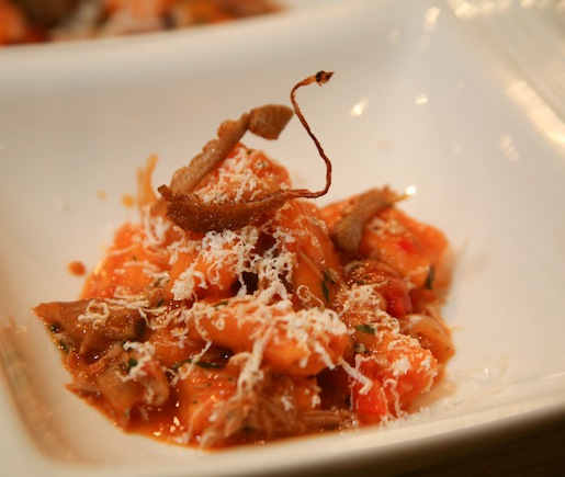 Housemade Red Pepper Rigatoni with Duck Leg Cacciatore and Ricotta Salata